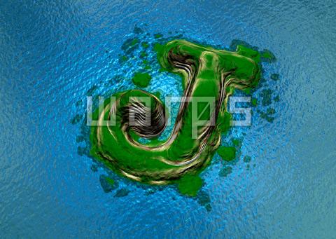 緑の森の島(J)