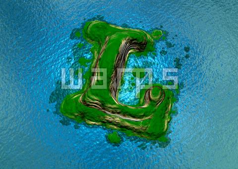 緑の森の島(L)